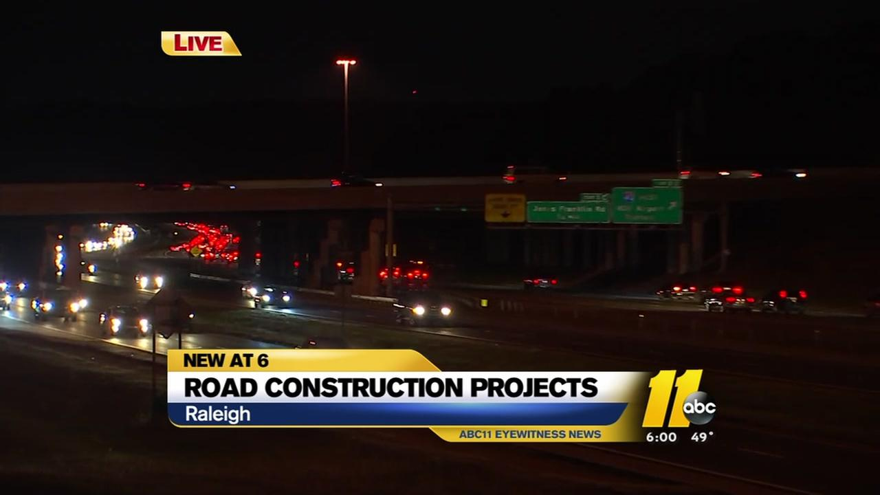 Road construction projects will change Wake County