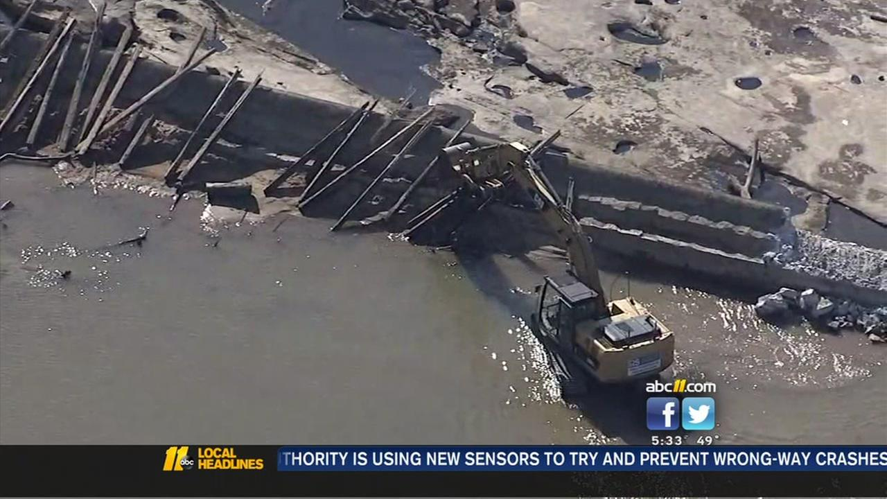 Historic Raleigh dam coming down