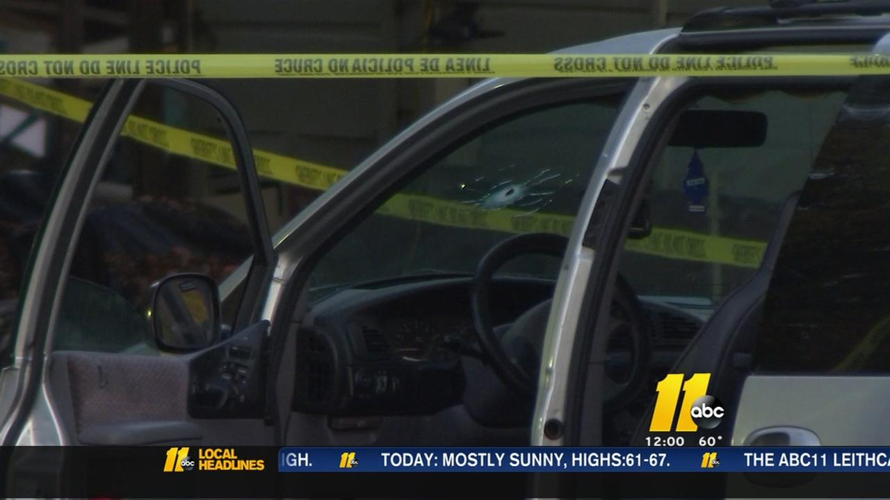 Durham County authorities surround minivan after shooting call