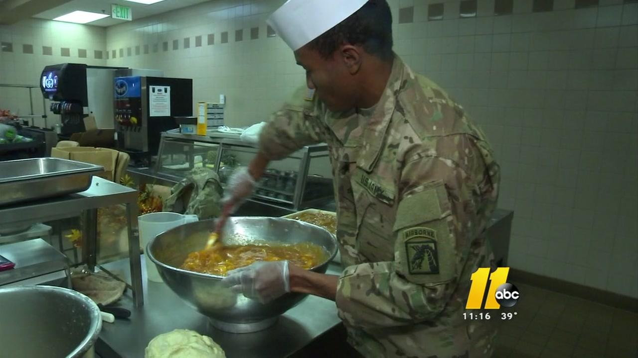 Fort Bragg preps for big Thanksgiving meal