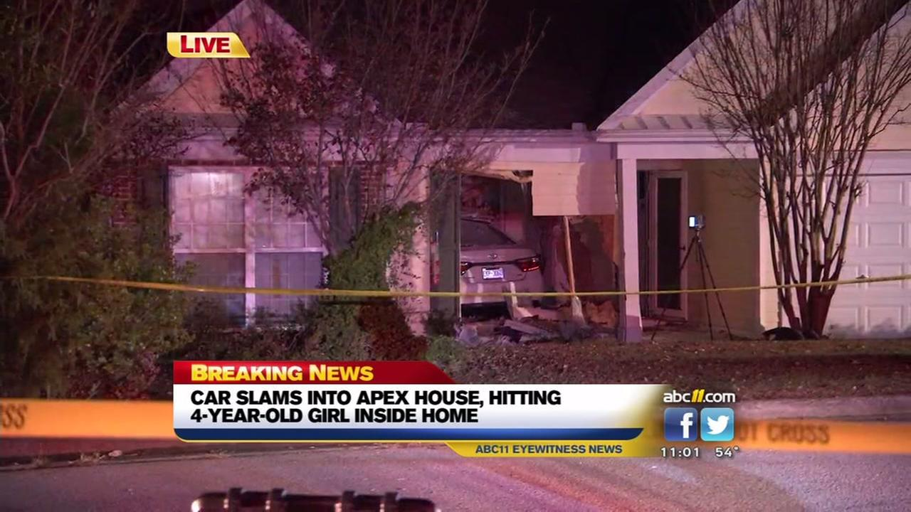 Car slams into Apex home