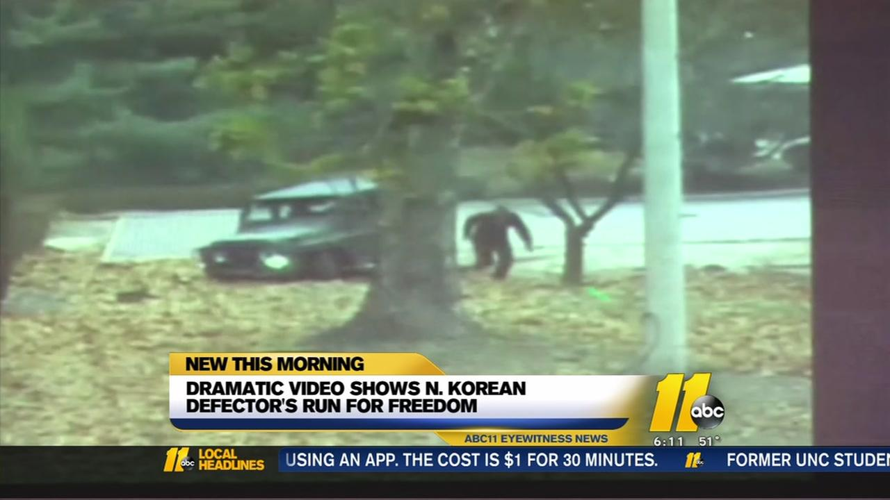 Dramatic footage shows escape, shooting of North Korean defector