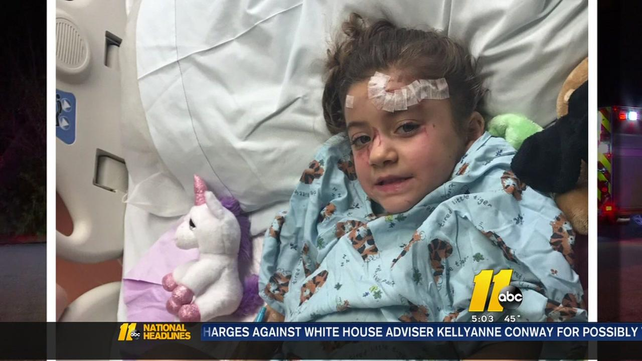 Apex girl injured by car crashing into her bedroom comes home