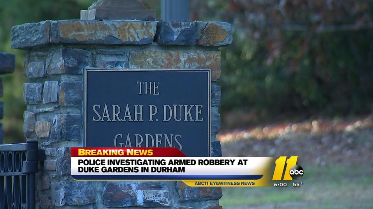 Campus police investigate armed robbery reported at Duke Gardens