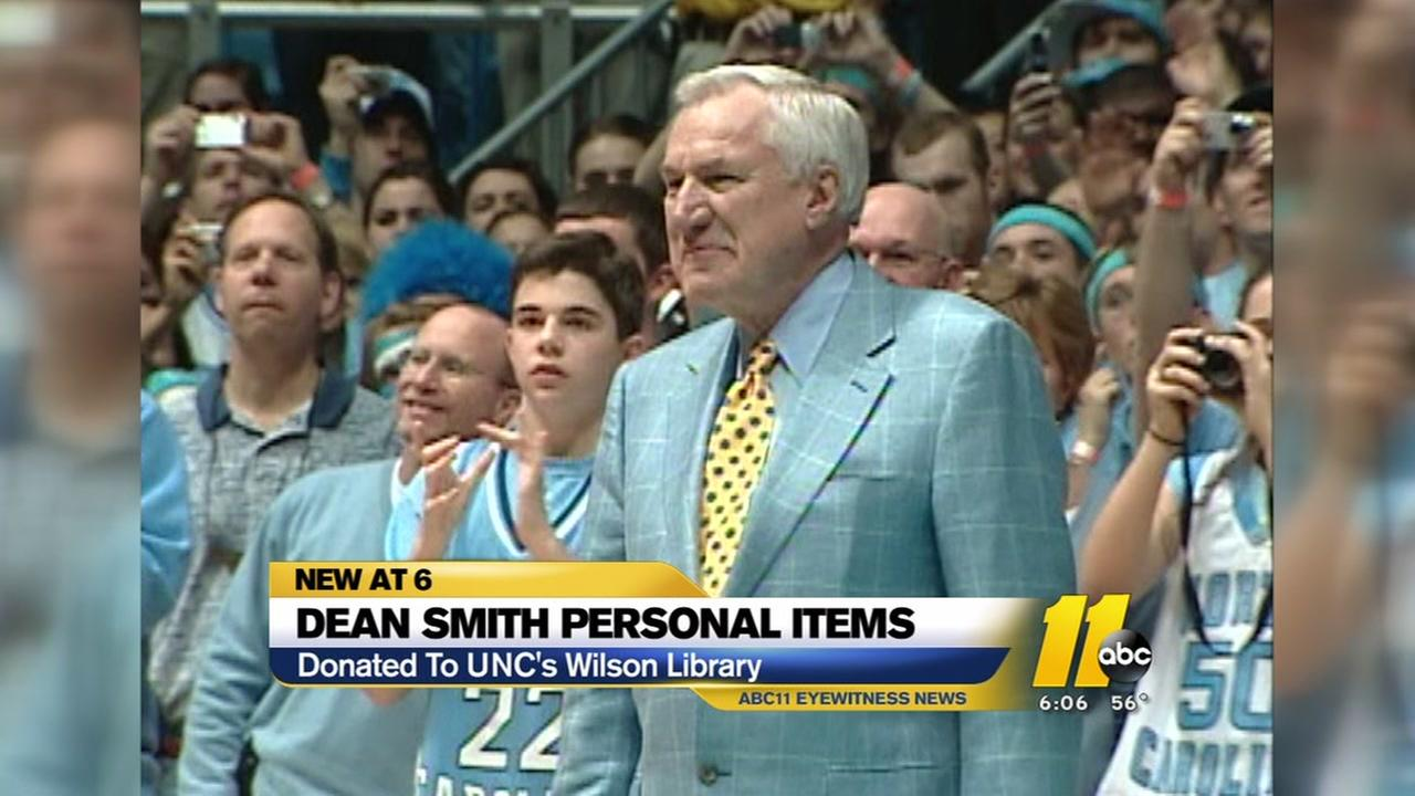Dean Smith personal items donated to UNC library