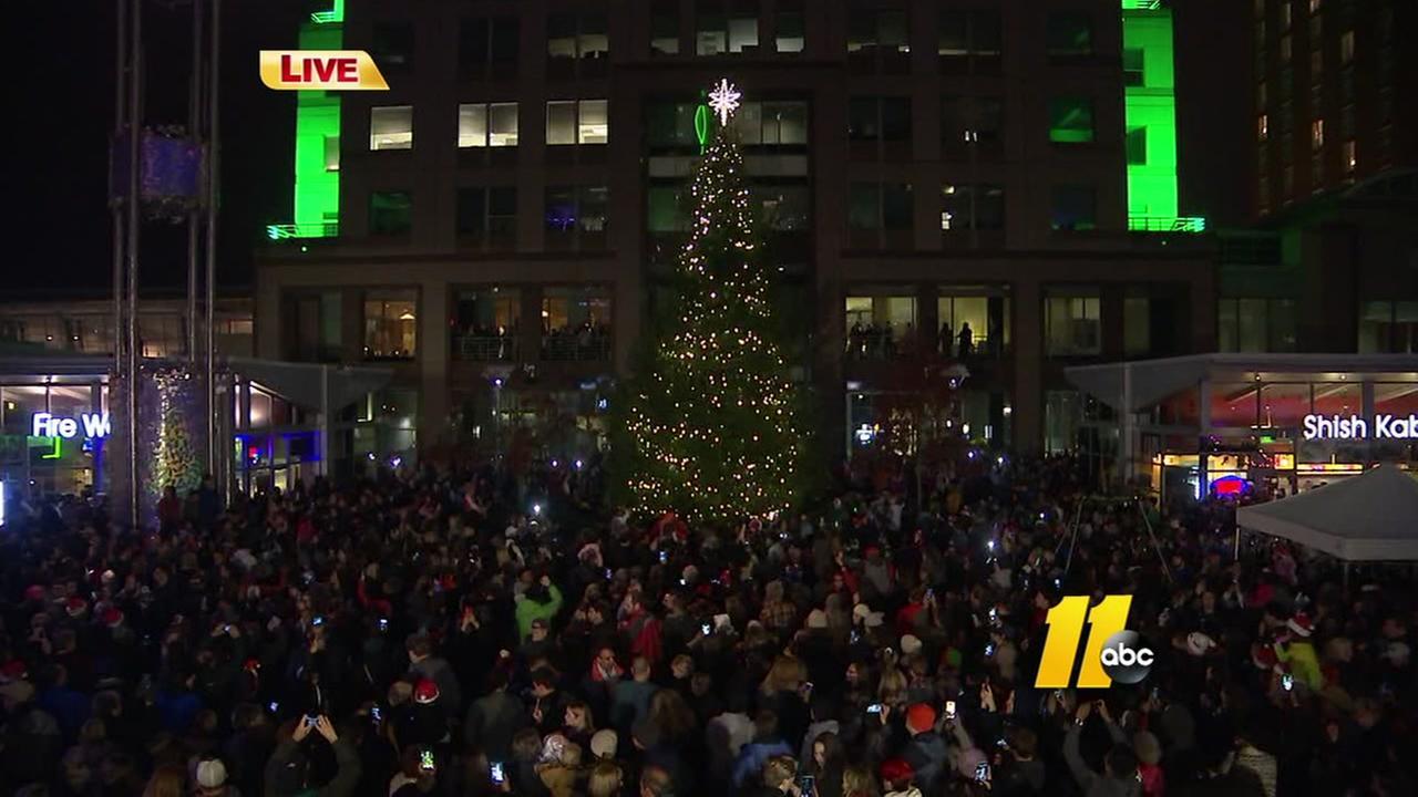 Downtown Raleigh Christmas Tree lighting celebration