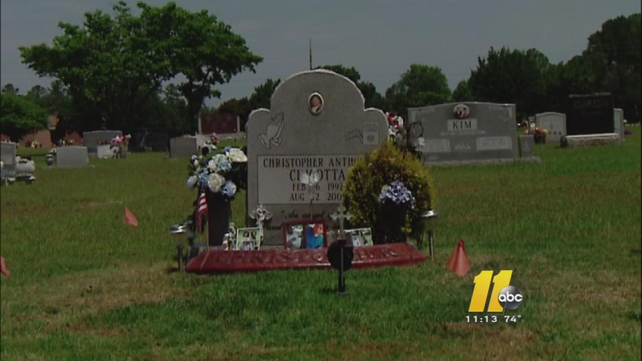 Family told they cant decorate sons grave