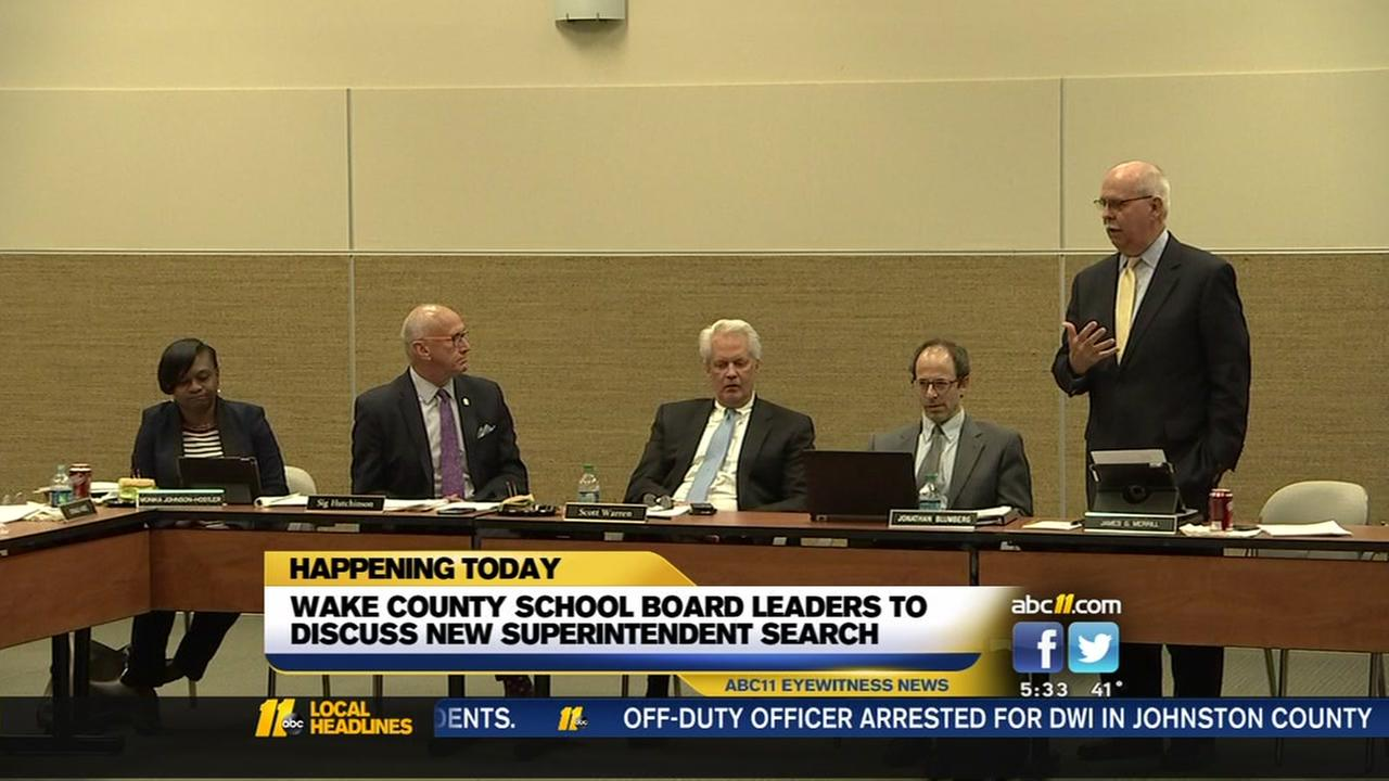 WAke County School Board leaders discuss new superintendent search