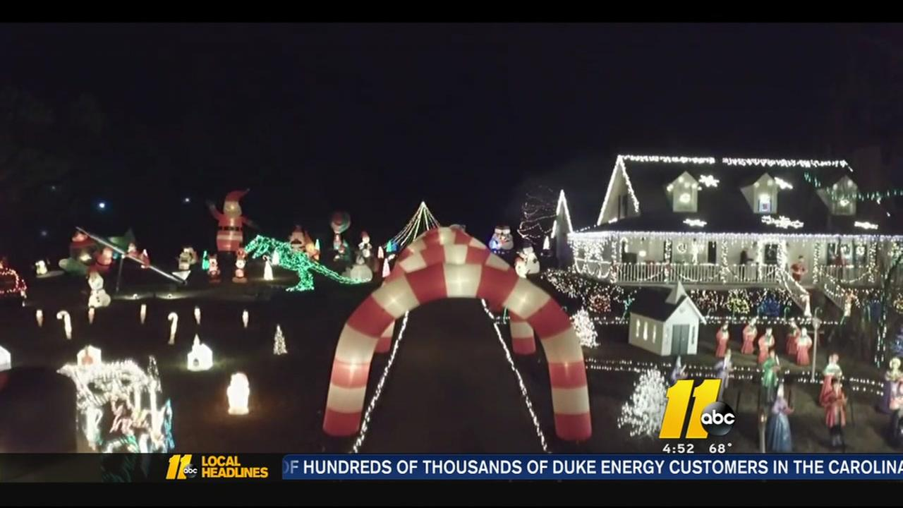 Raleigh man searching for new home for Christmas light display