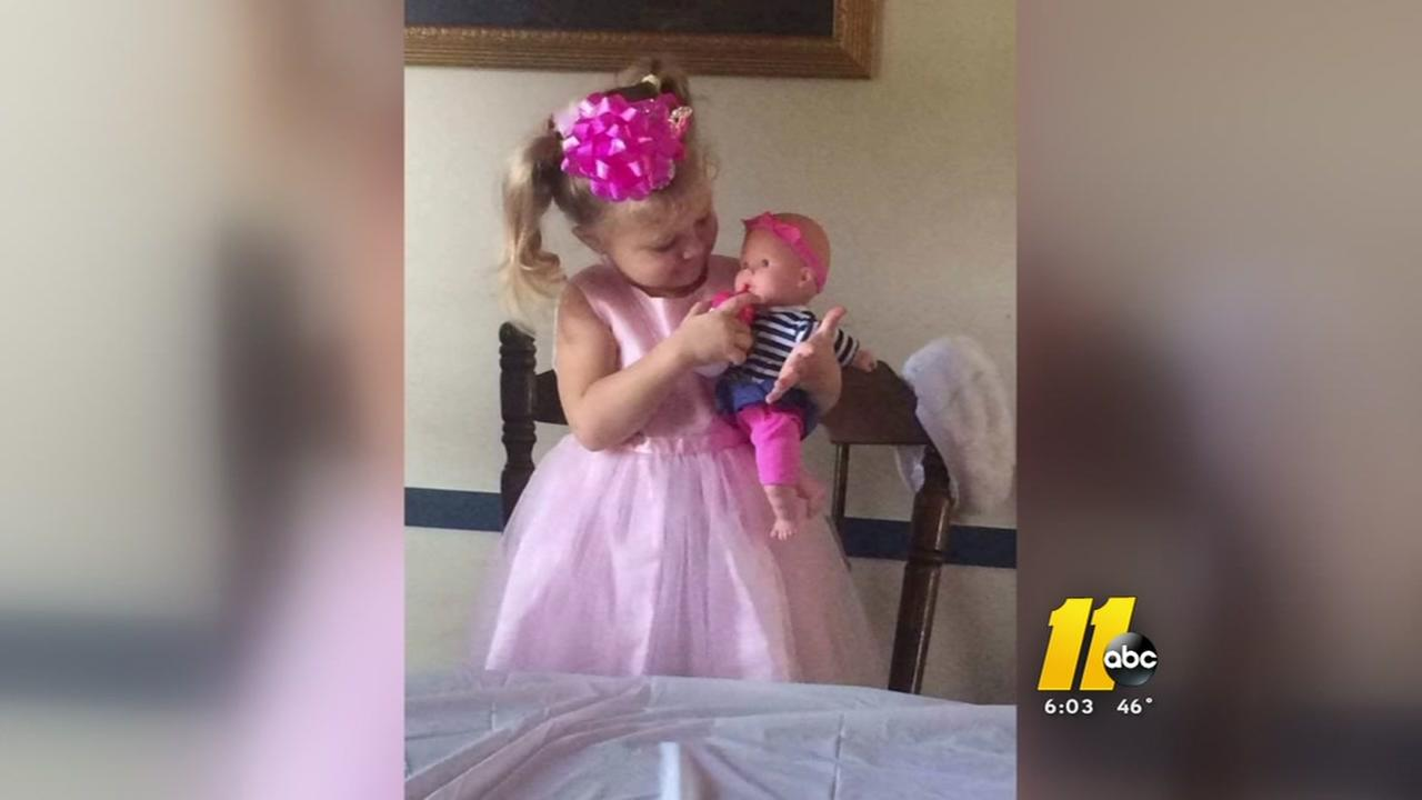 Emotional public visitation for Mariah Woods