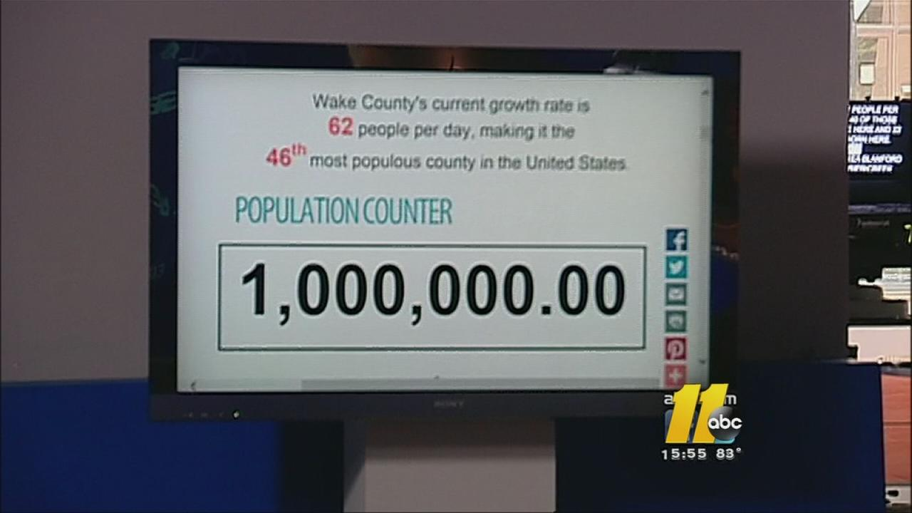 Wake County population reaches 1 million