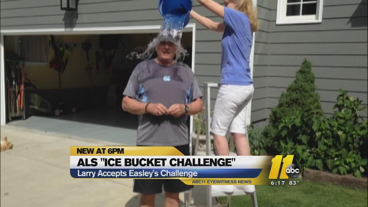 Larry Stogner takes the ALS Ice Bucket Challenge.