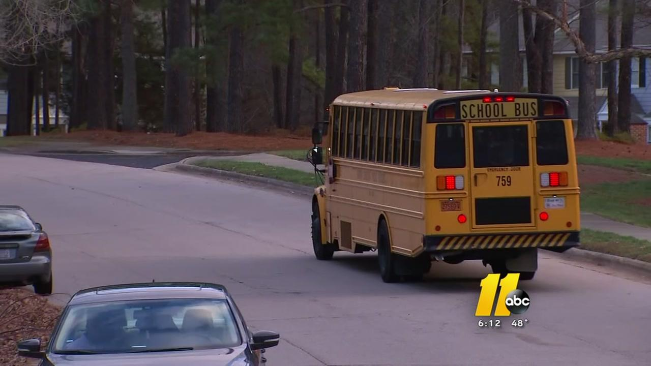 Wake County students dropped off at wrong bus stop