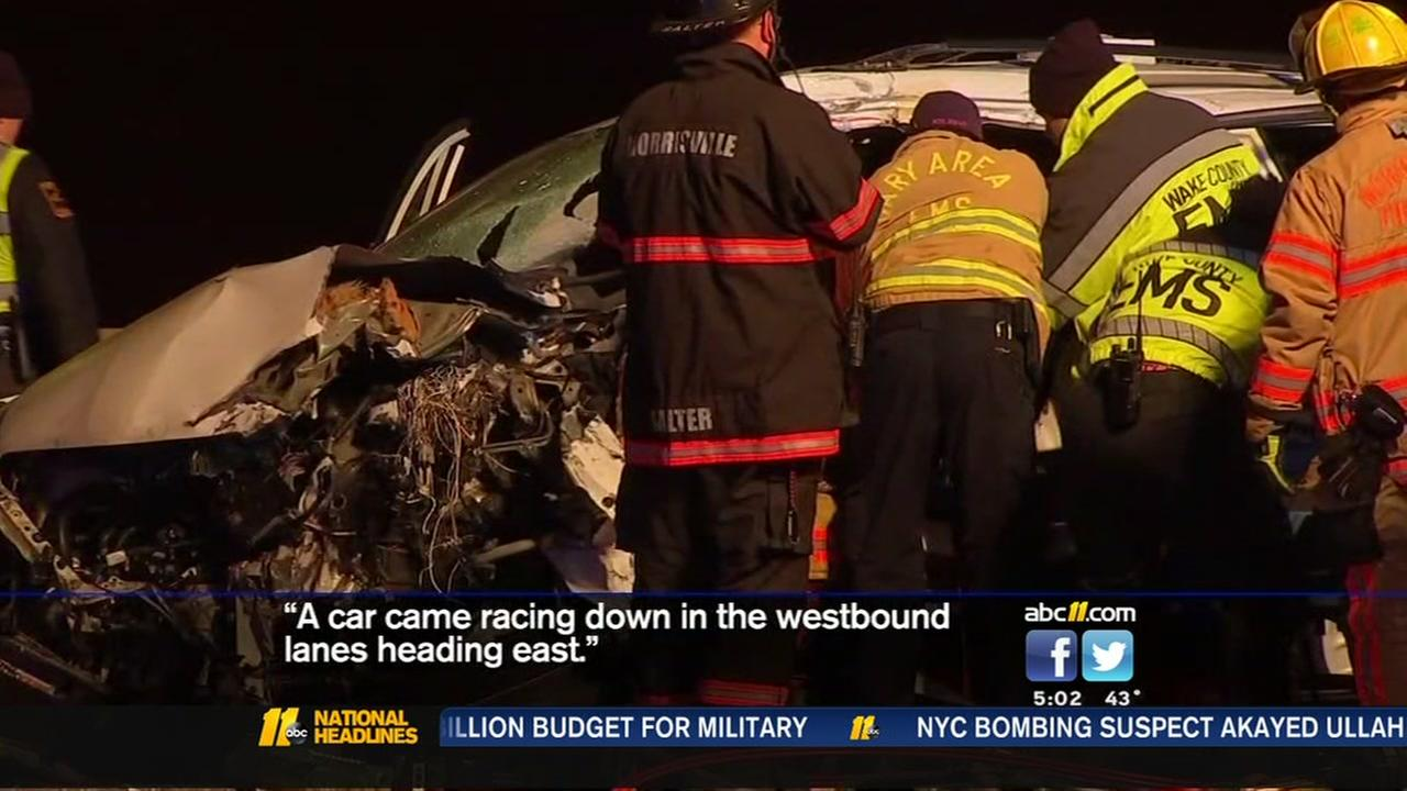 Driver critically injured in wrong-way crash on I-40
