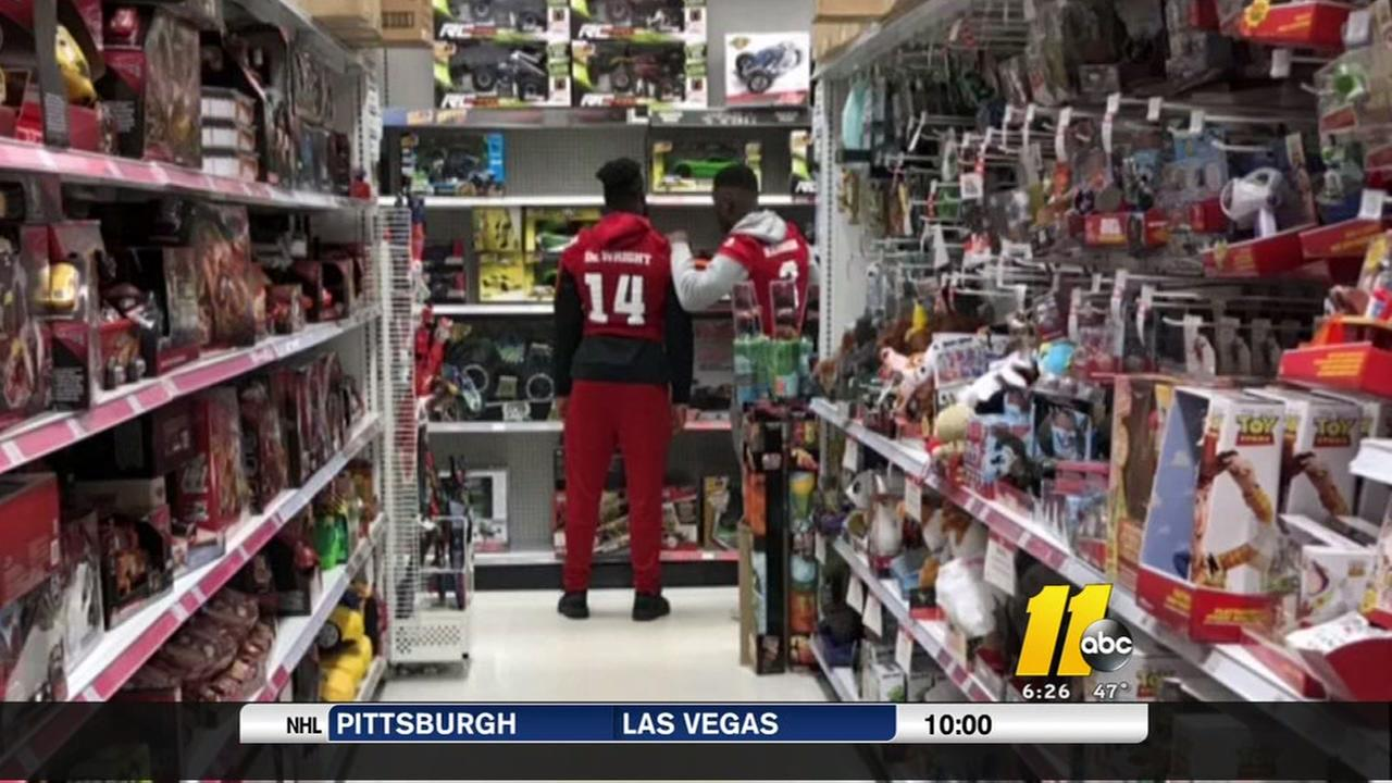NC State, UNC athletes collect toys for kids in need
