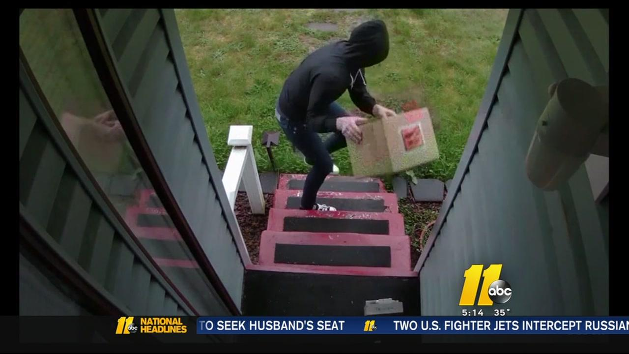 Man fed up with package thieves rigs anti-theft device
