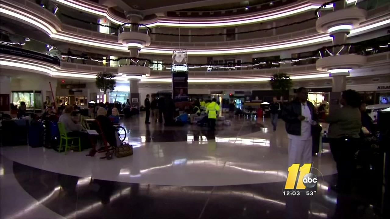 Ripple effects at RDU after major power outage at Atlanta airport