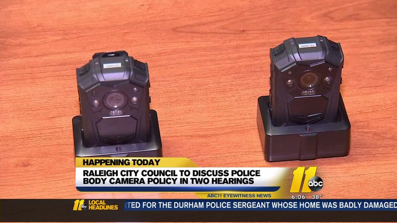 Raleigh City Council to discuss police body camera policy