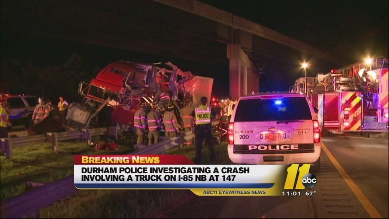 I-85 tractor trailer accident