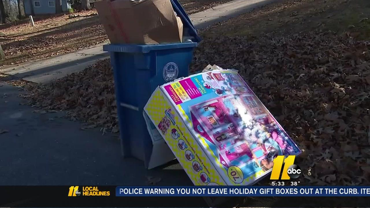 Fayetteville Police remind residents to break down Christmas package boxes