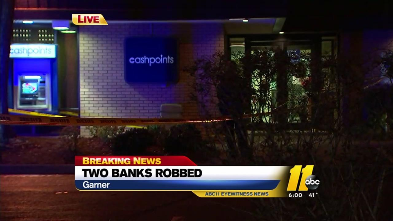 Two credit unions robbed in Garner