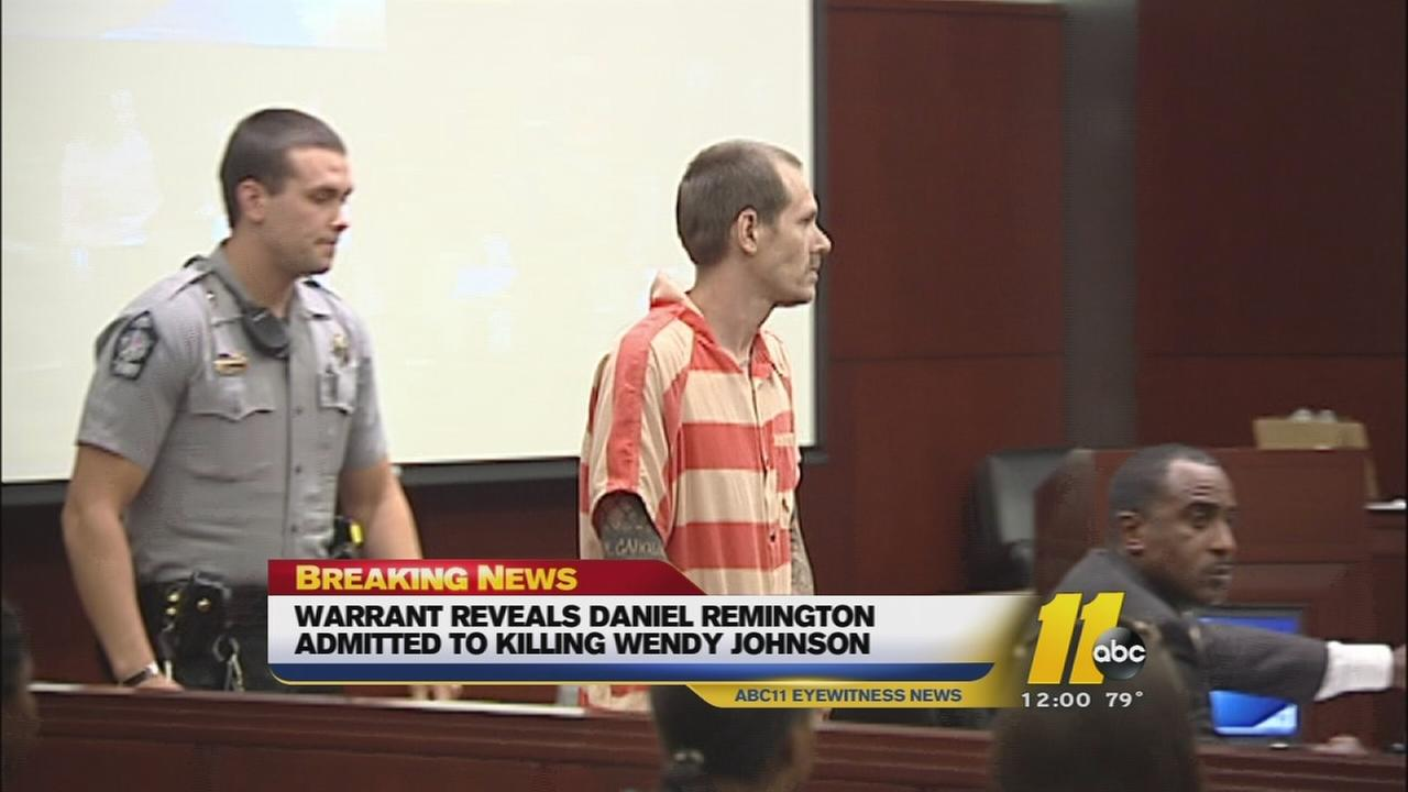 Warrant says suspect in Cary nurse shooting confessed