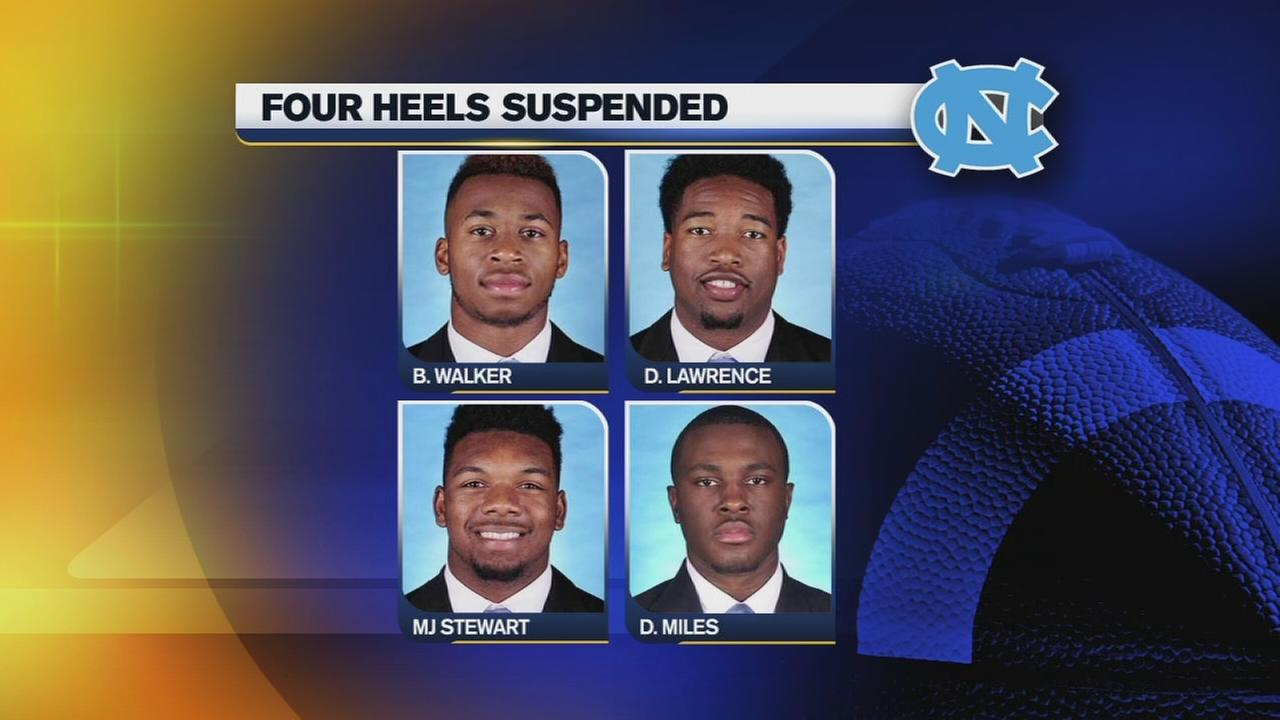 4 suspended UNC players