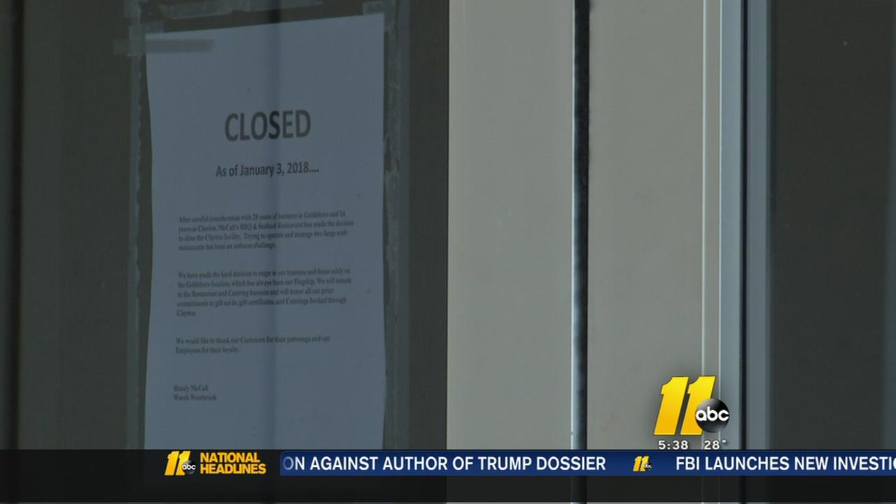 Popular Clayton restaurant suddenly shuts down