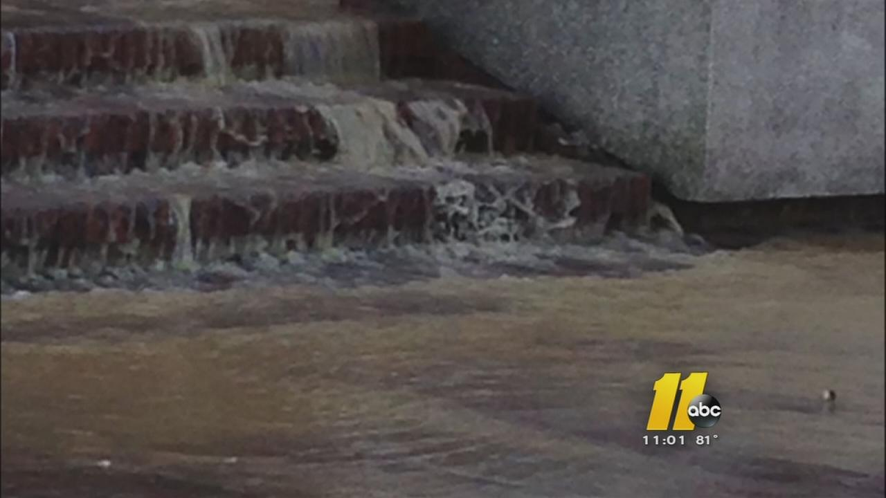 Water line break floods UNC building