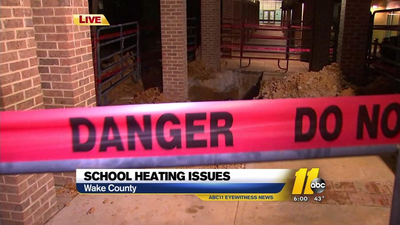 School heating issues at Apex Middle School