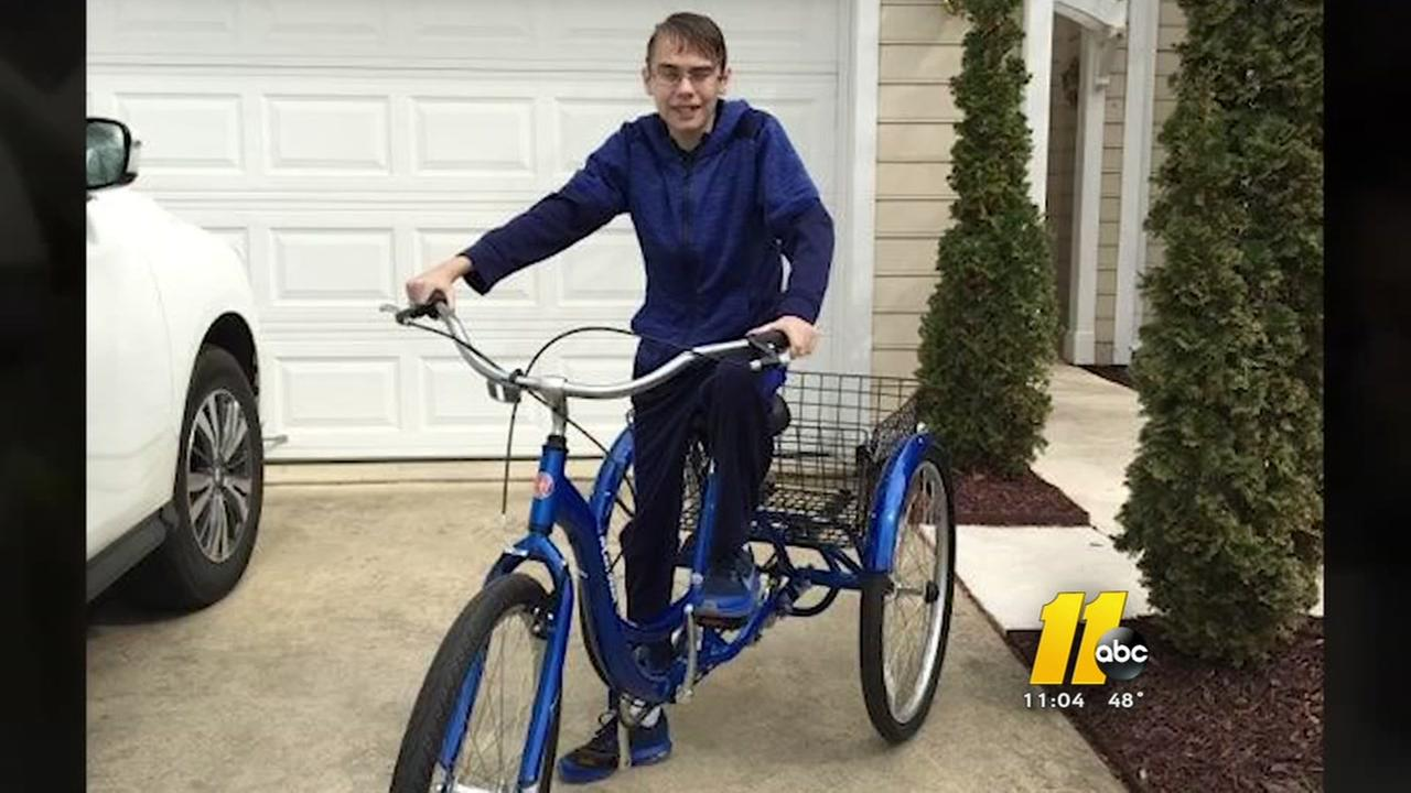 Tricycle stolen from Cary teen recovering from lung transplant