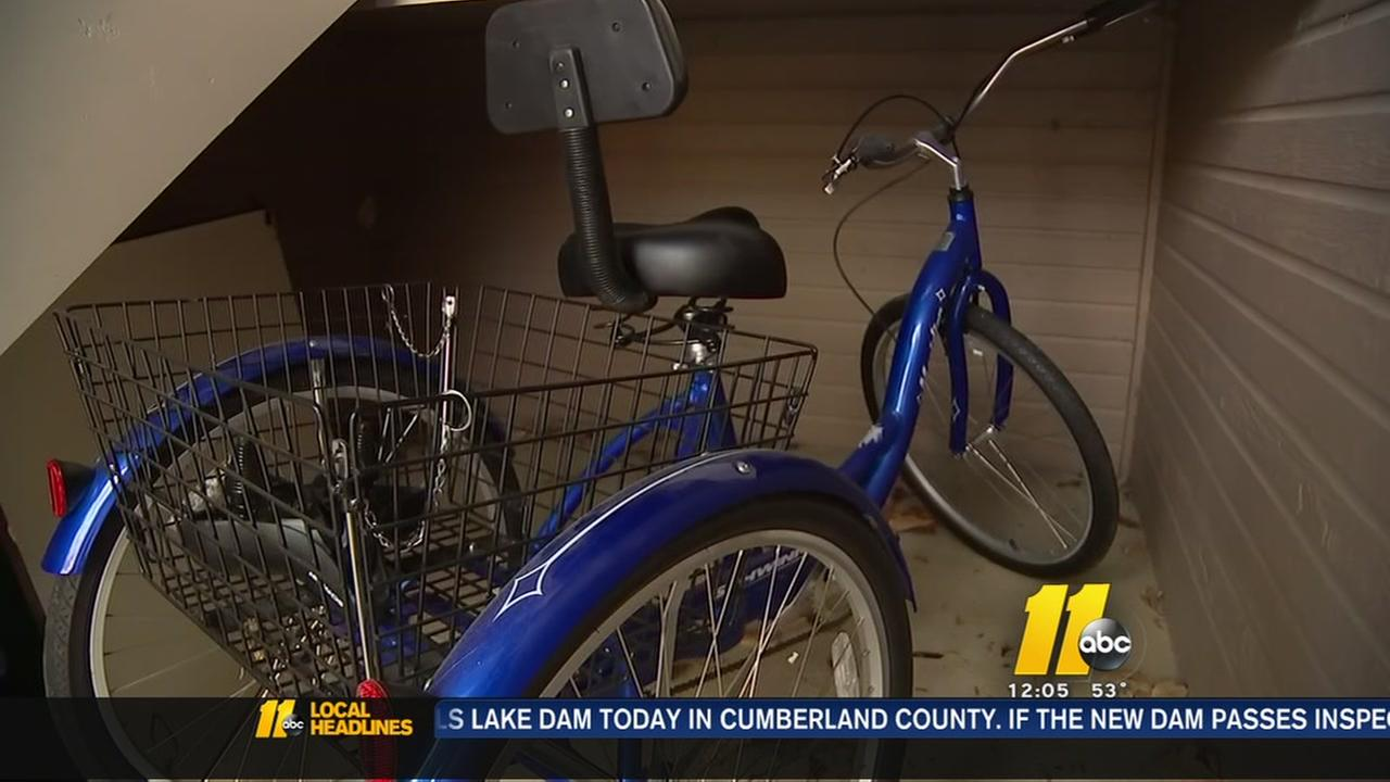 Cary transplant patient reunited with stolen tricycle