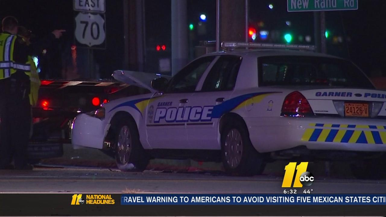 Driver injured in crash involving Garner police officer