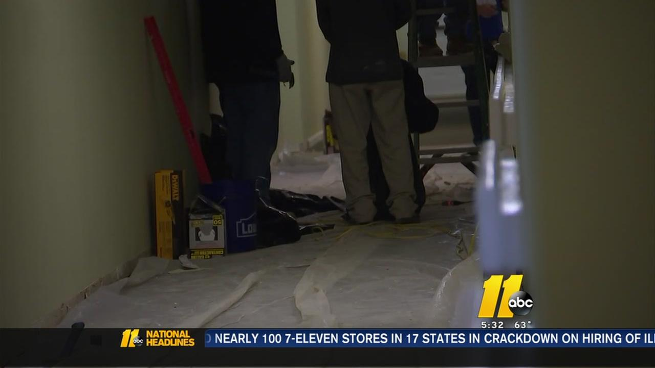 Apartments flooded in Rocky Mount