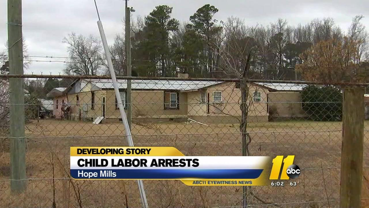 Child labor arrests in Hope Mills
