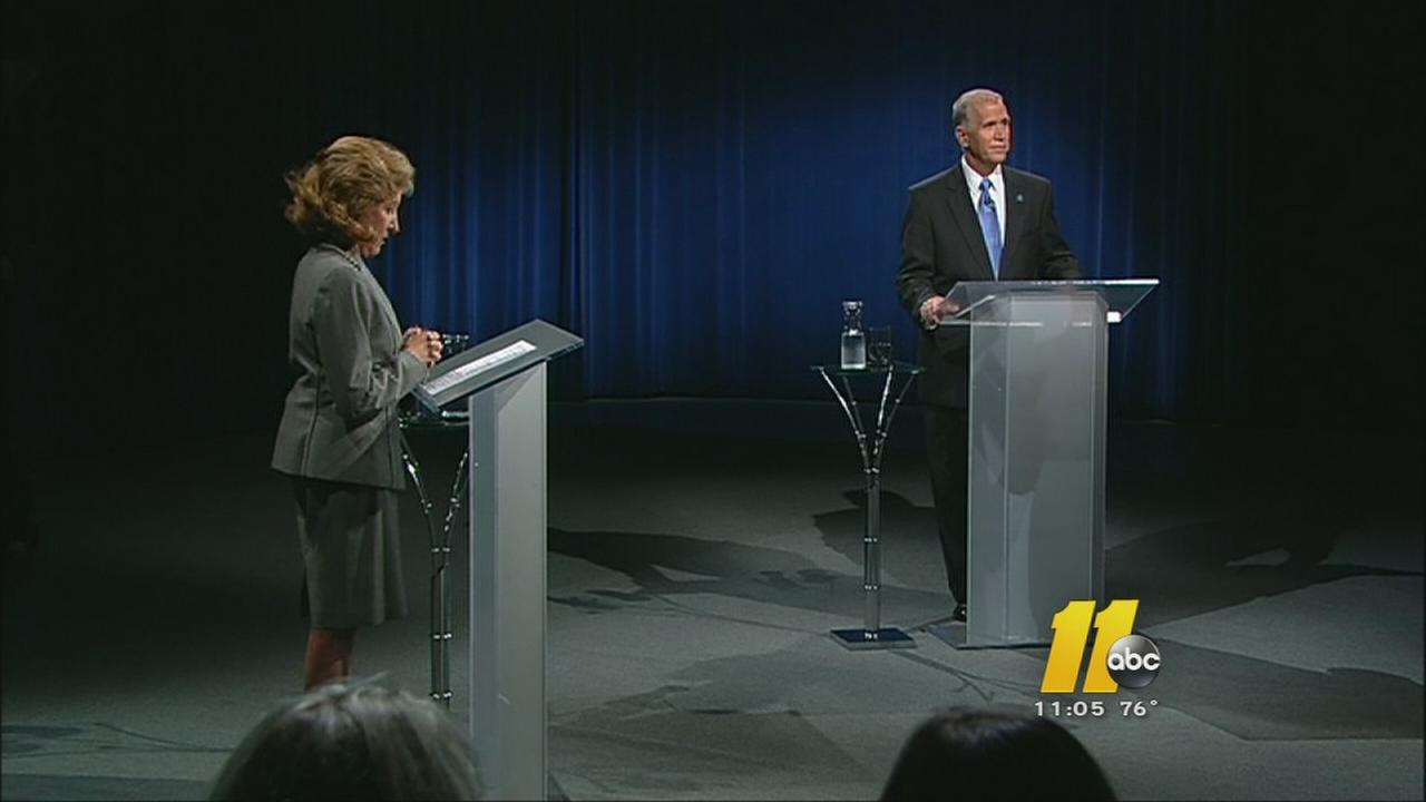 Hagan, Tillis clash in 1st Senate debate