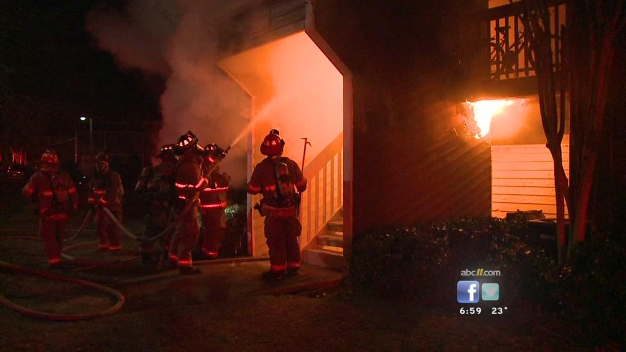 Three injured in Durham apartment fire