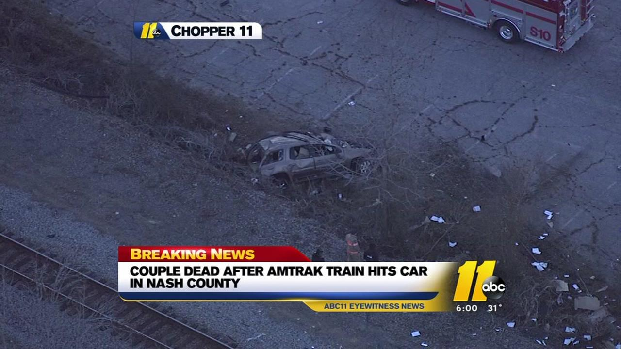 2 dead after vehicle collides with train in Nash County