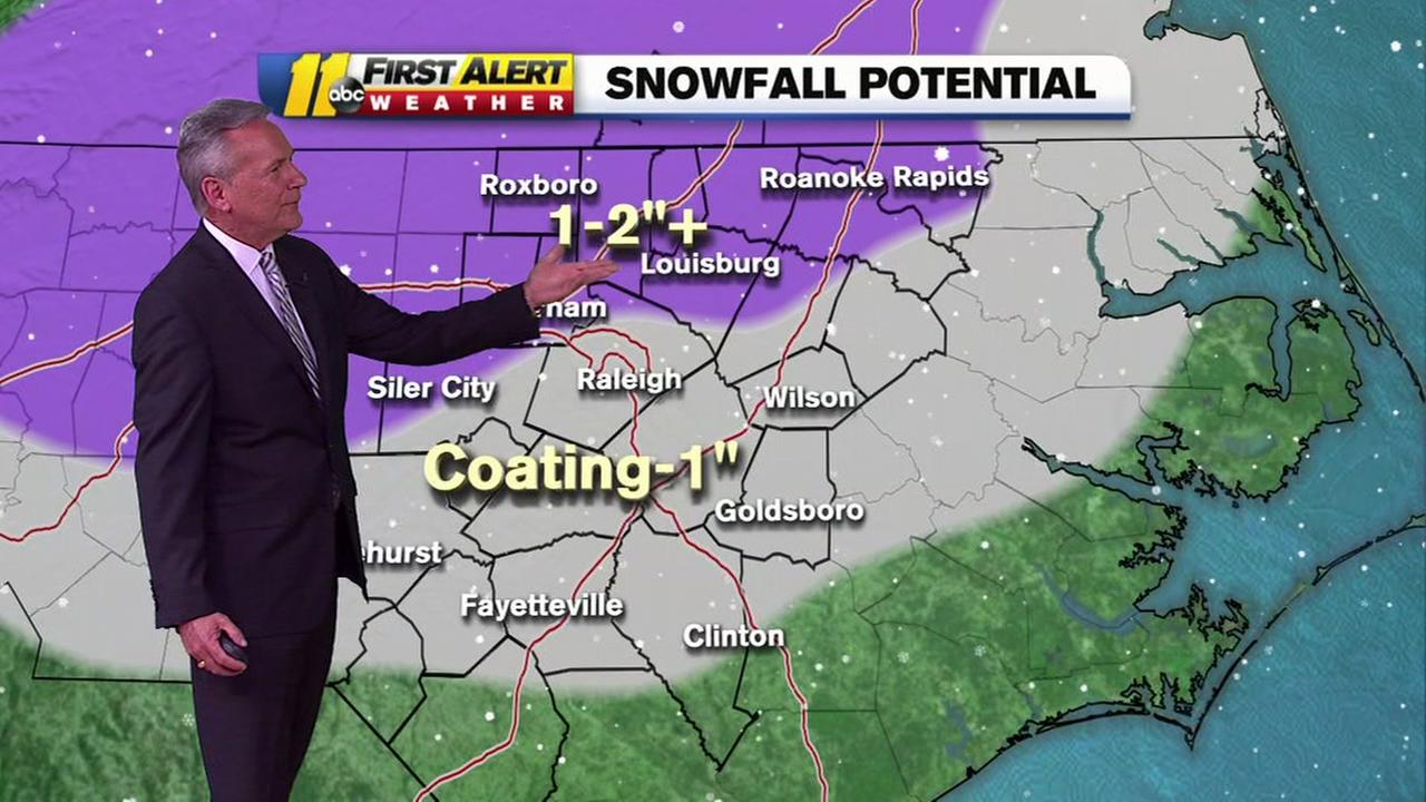 The latest on the potential for snowfall