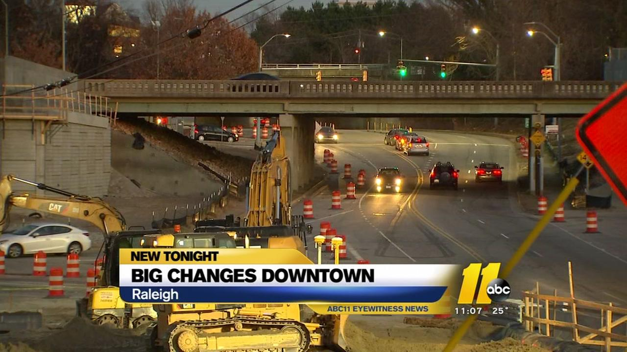 Road projects mean big changes in downtown Raleigh