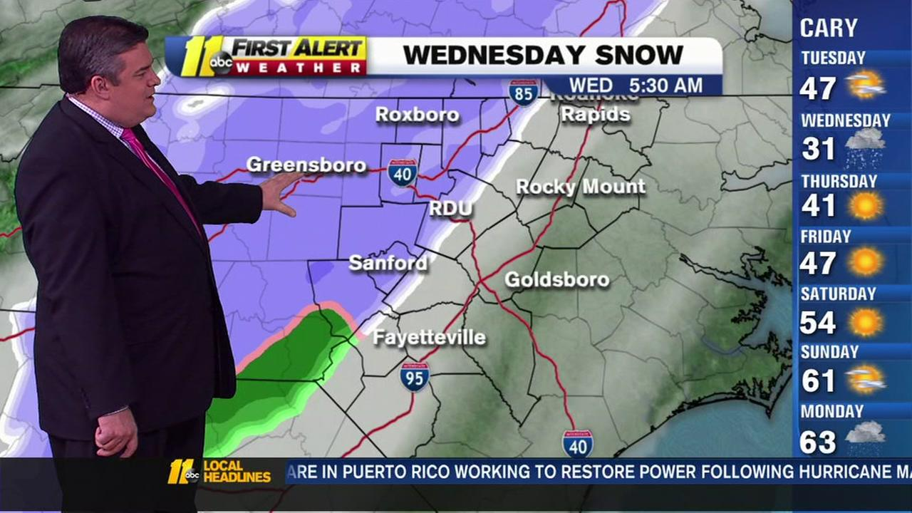 Hour-by-hour: A look at the projected snowfall