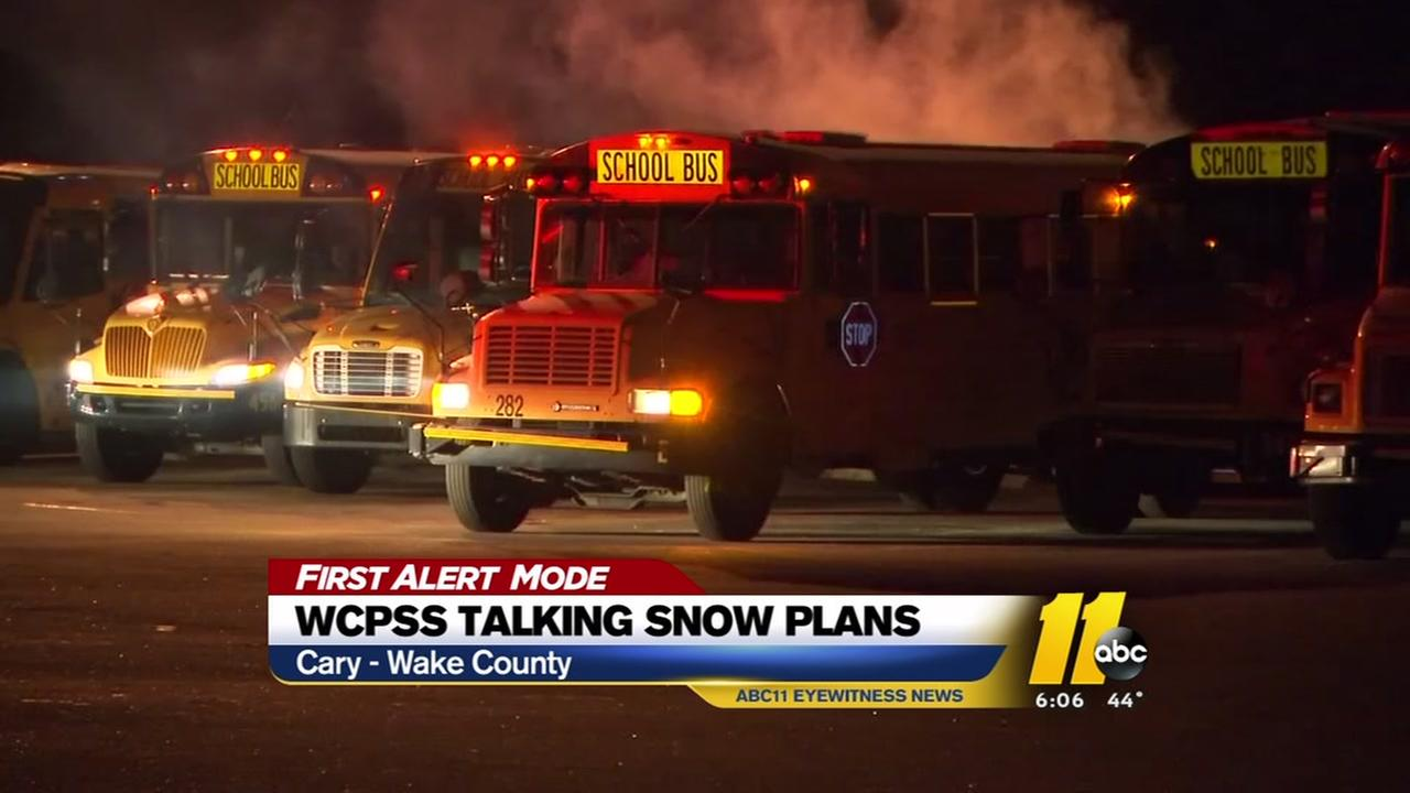 How Wake County determines snow plans