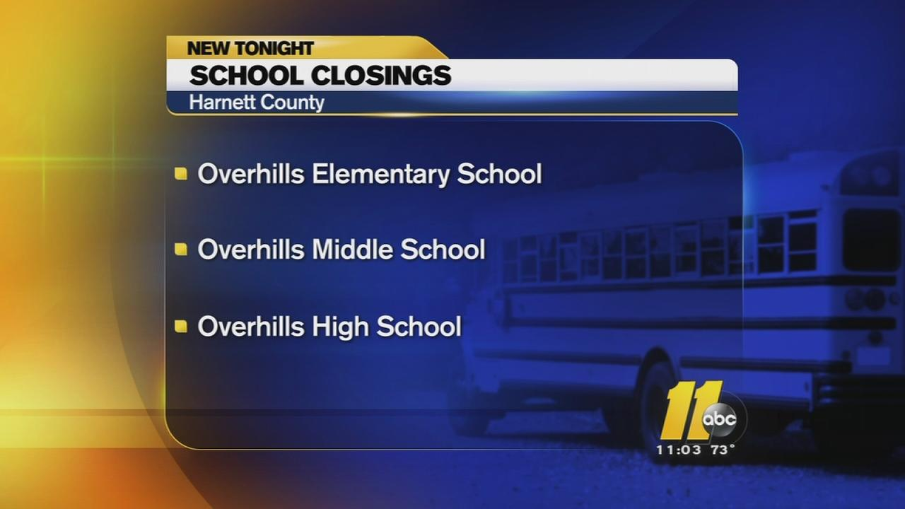 No school Friday for 3 Overhills schools due to water problem