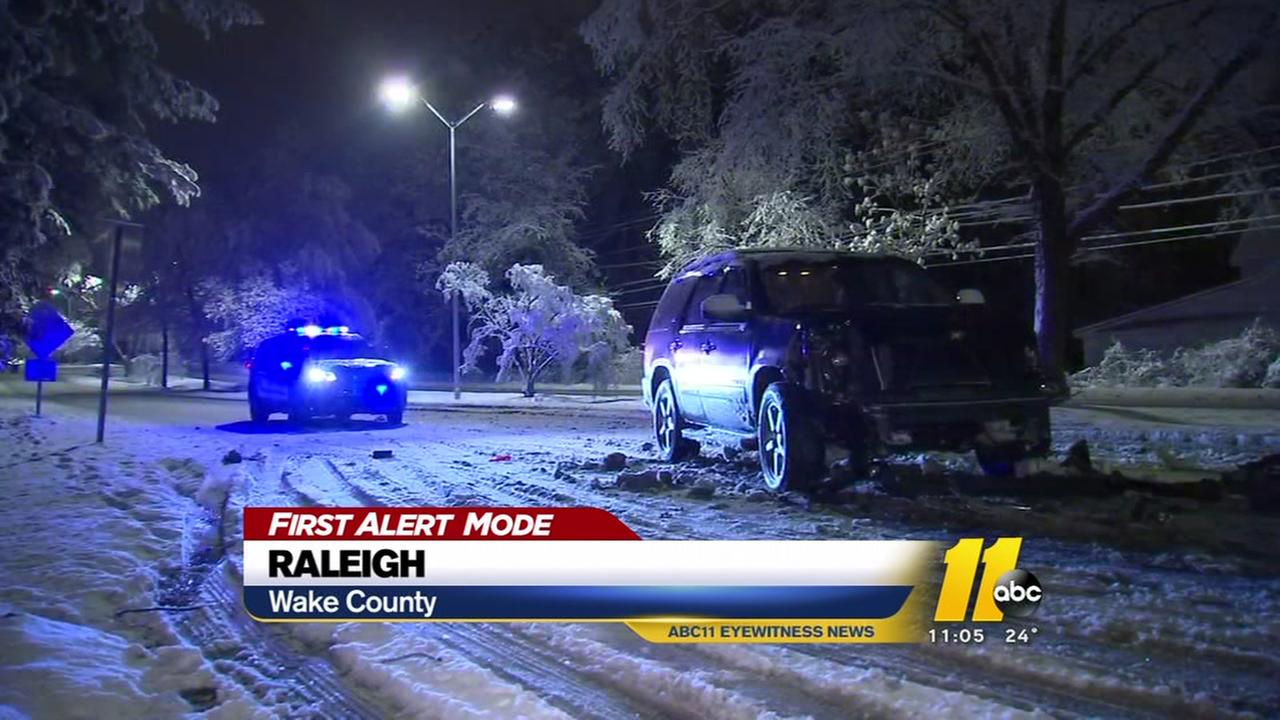 Road conditions are poor throughout the Triangle