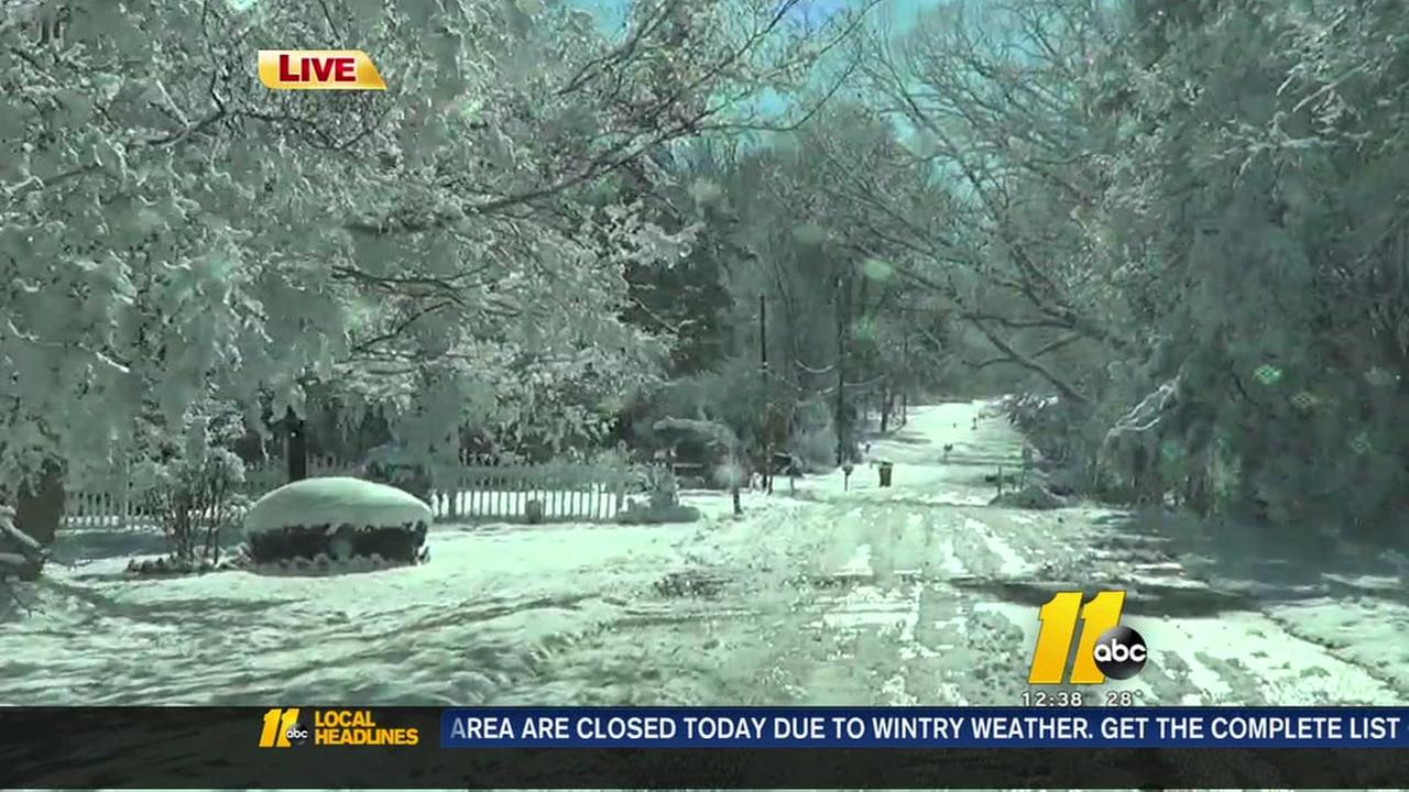 A look at Triangle road conditions