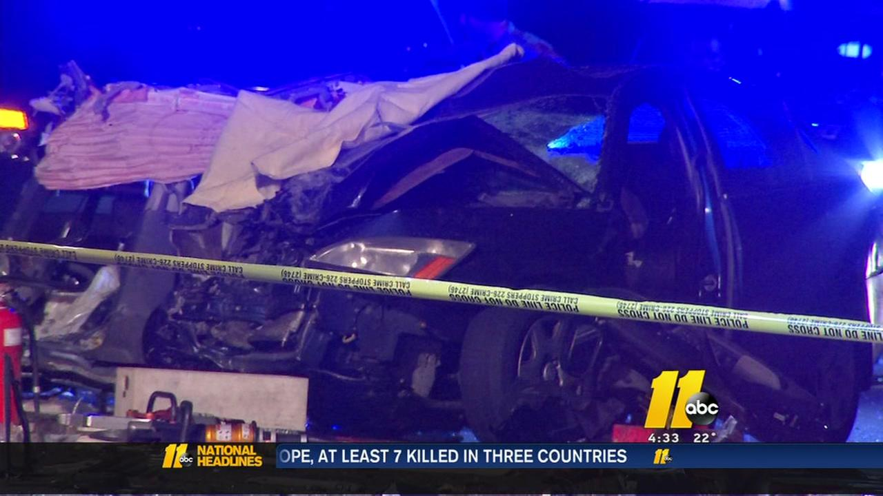 1 killed, 2 seriously injured in Raleigh crash on I-40 W near Wade Avenue
