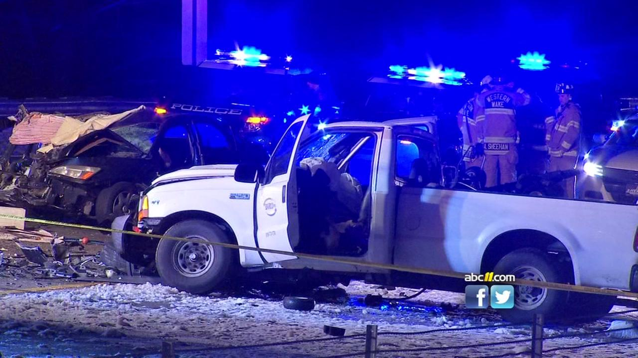 2 killed, 2 injured in head-on crash on I-40 W near Wade Avenue in Raleigh