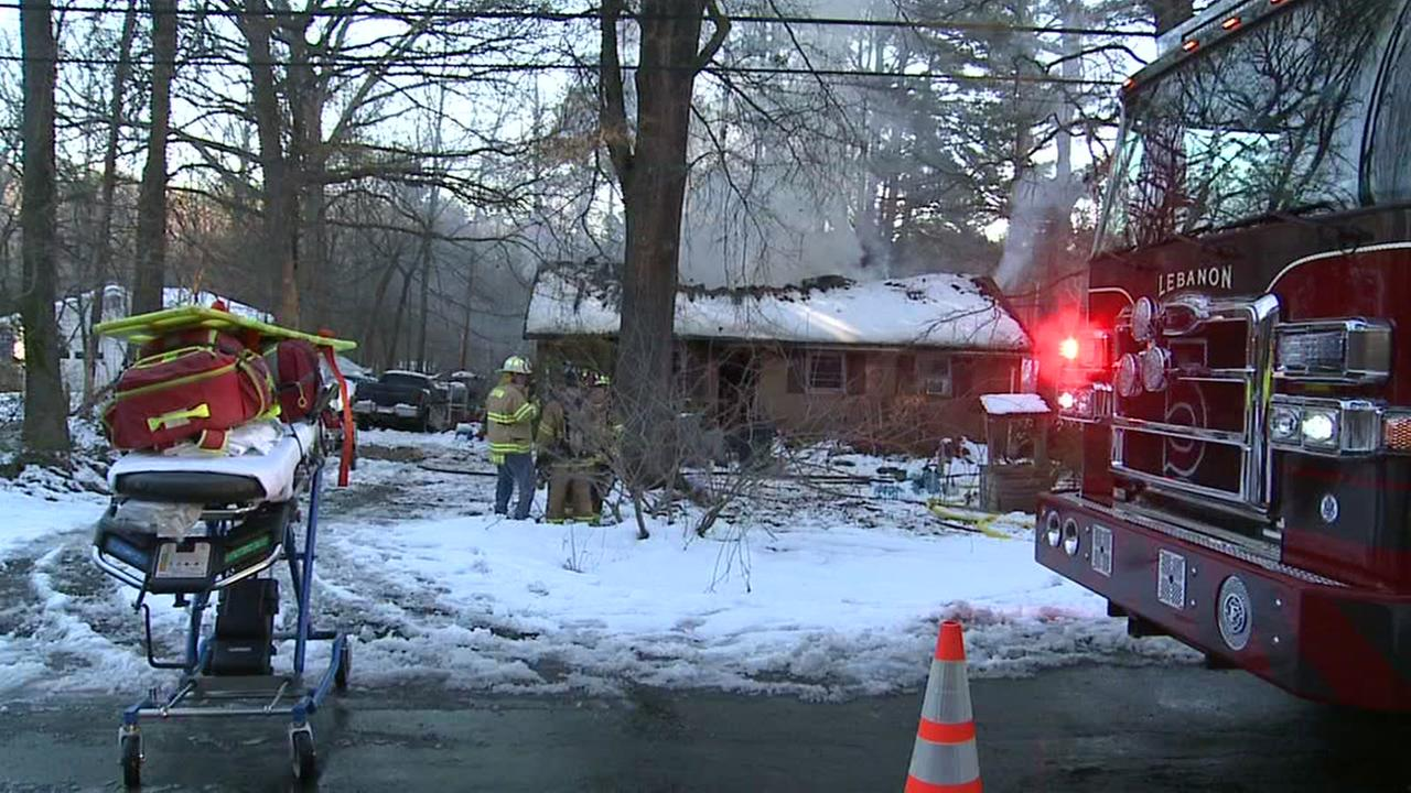 Firefighters responded to a house fire Friday on Whitt Drive in Durham.