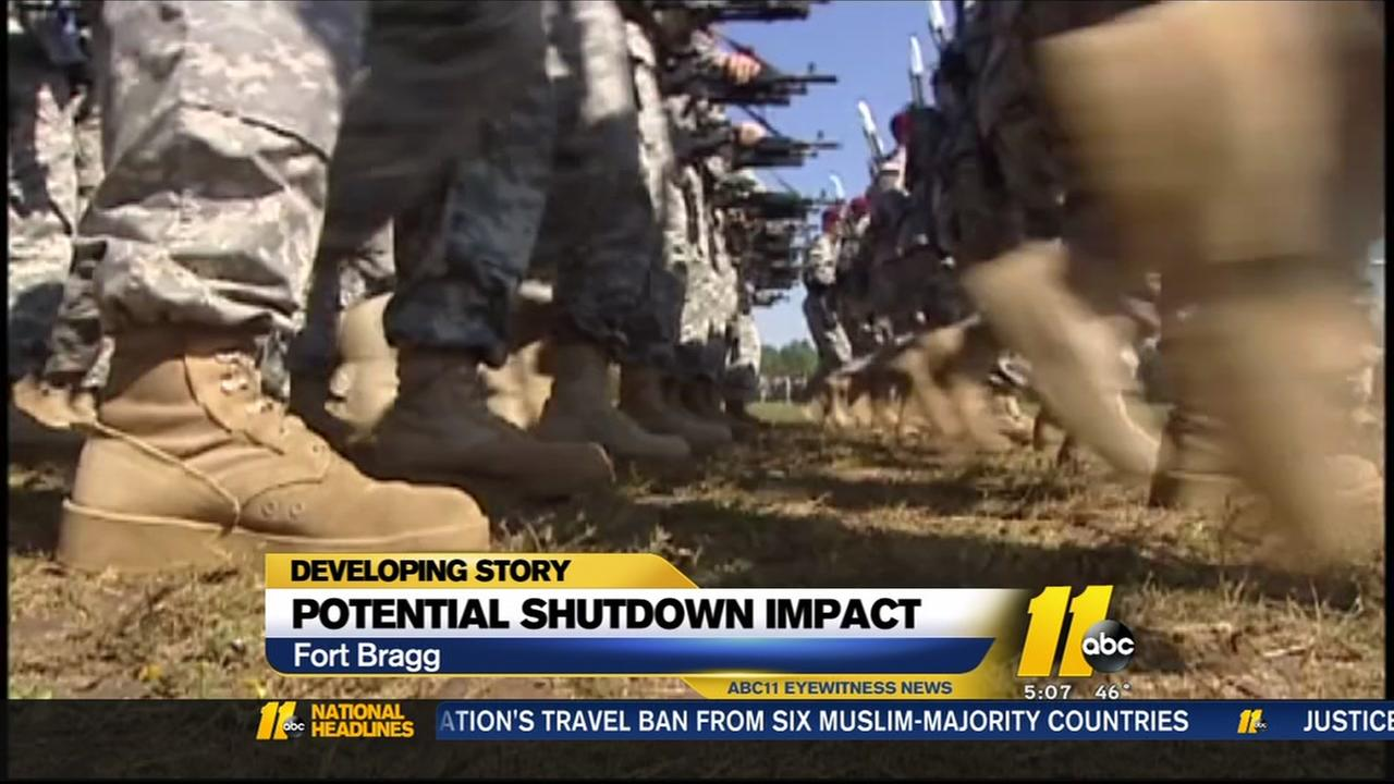 Potential shutdowns impact on Fort Bragg