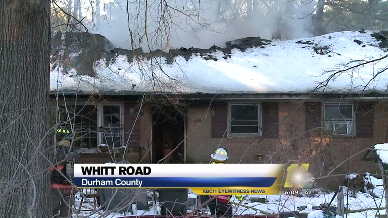 Durham house heavily damaged in fire
